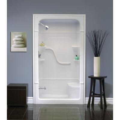 Mirolin Madison 48 Inch 1 Piece Acrylic Shower Stall With Seat Home Depot C