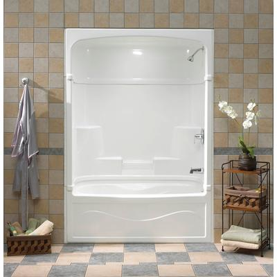 one piece acrylic tub shower units. Mirolin Victoria 60 Inch 3 Piece Acrylic Tub And Shower Home Depot Canada Two  Design Mannahatta us