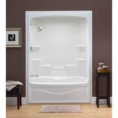 Mirolin Liberty 60 Inch 1 Piece Acrylic Tub And Shower Combination Whirlpool
