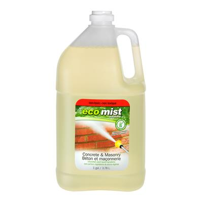 Eco mist eco mist concrete masonry cleaner for Spray on concrete cleaner