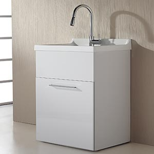 Presenza Deluxe Utility Sink And Storage Cabinet : Laundry Utility Sink Cabinet Storage Rachael Edwards
