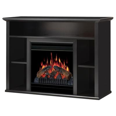 dimplex brentwood media fireplace black home depot
