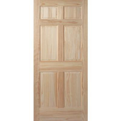 Masonite 6 Panel Clear Pine Door 24 Inch X 80 Inch Home