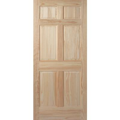 Masonite 6 panel clear pine door 30 inch x 80 inch home for Home depot exterior doors canada