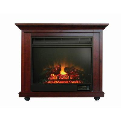 Paramount Clayton Mahogany Electric Fireplace 34 Inches Home Depot Canada Ottawa