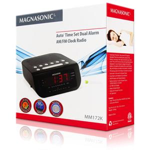 magnasonic am fm alarm clock radio mag mm189k best buy. Black Bedroom Furniture Sets. Home Design Ideas