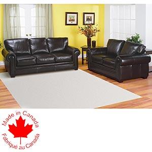 Reggio Leather Sofa and Loveseat Costco Ottawa