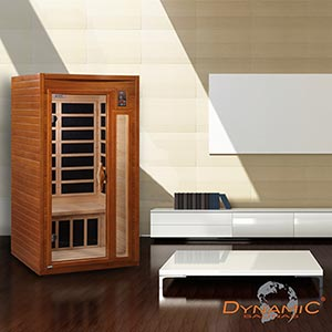Dynamic Saunas 1- to 2-person Infrared Carbon Sauna