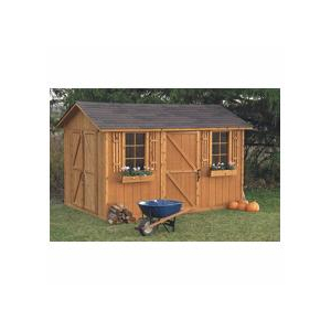 8 39 x 12 39 huron double door storage shed home hardware for 12x8 shed with side door