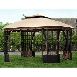 Sunjoy 3 m x 3.7 m (10 ft. x 12 ft.) Bay Window Gazebo ...