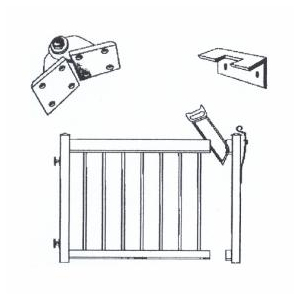 Regal ideas 4 39 black aluminum straight gate picket railing for Home hardware house packages