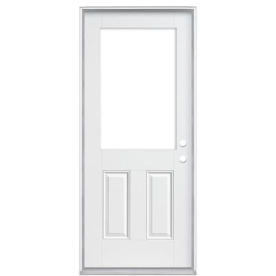 Masonite 32 in x 6 9 16 in smooth fiberglass cutout for Custom cut glass home depot