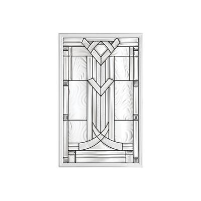 Masonite 22 In X 36 In Chatham Antique Black 1 2 Lite Decorative Glass Insert Home Depot
