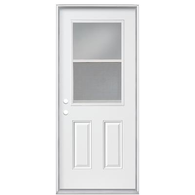 Masonite 34 in x 4 9 16 in venting 1 2 lite low e right hand steel door home depot canada for Home depot canada doors exterior