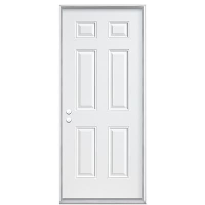 Masonite 36 In X 6 9 16 In 6 Panel Endurance Right Hand Door Home Depot Canada Ottawa