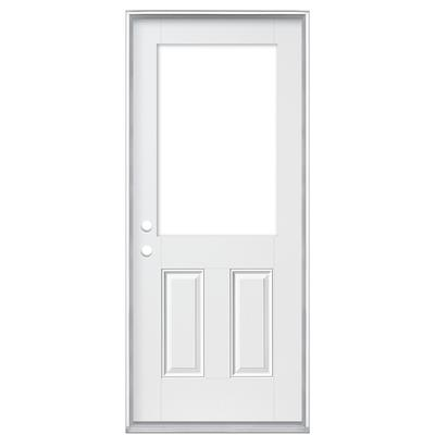 Masonite 34 in x 6 9 16 in smooth fiberglass cutout for Home depot exterior doors canada