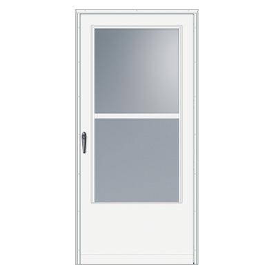 Emco 30 in width 100 series self storing white door - Home depot exterior doors prices ...