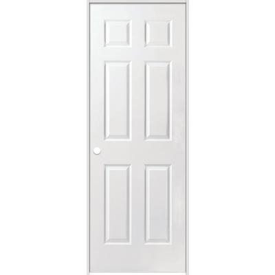 Safe 39 n sound primed 6 panel textured safe n sound solid core prehung door 28 inch x 80 inch for Solid core interior doors soundproof