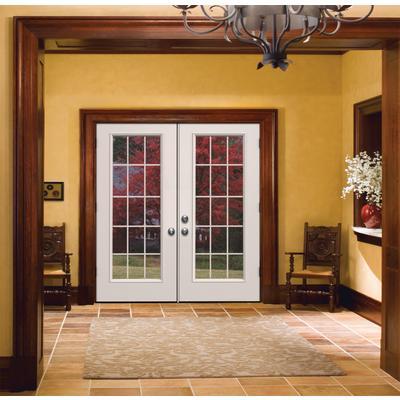 Jeld wen windows doors french inswing 6 inch 15 lite lh for Patio doors home depot canada