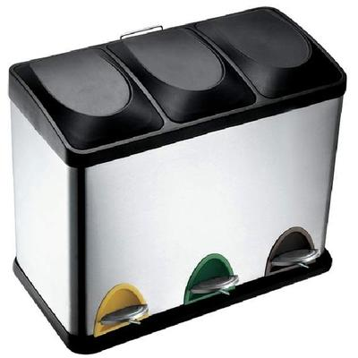 Hqv 3 compartment waste and recycling bin home depot canada ottawa - Home depot recycling containers ...