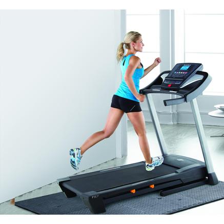 treadmill controls on tv