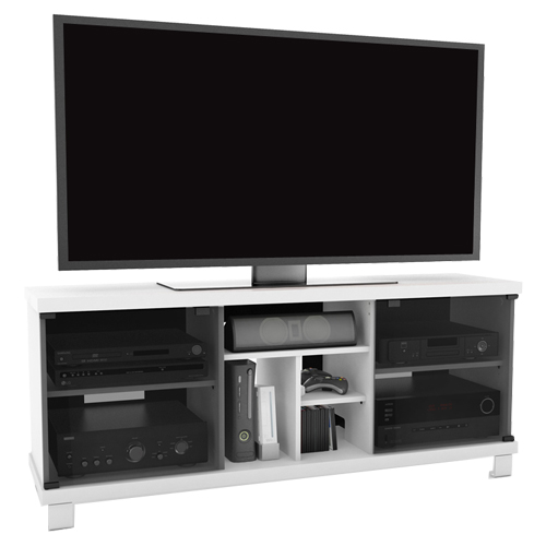 Sonax tv stand for tvs up to 70 t 115 cht white for Where to buy tv console
