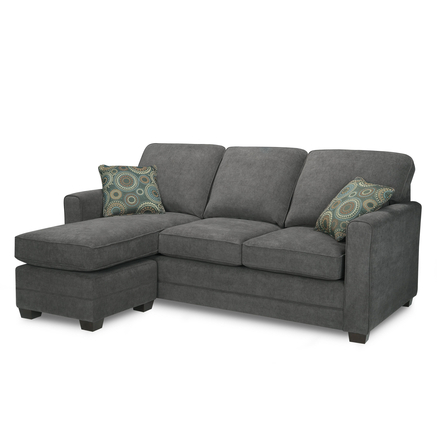 Simmons 39 stirling 39 queen sofa bed with chaise sears for Sofa bed canada