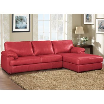 Marina Top grain Leather Sectional Red Costco Ottawa
