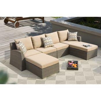 Hampton Bay Patio Furniture Cibola 6 Piece Sectional Patio Home Design Ideas