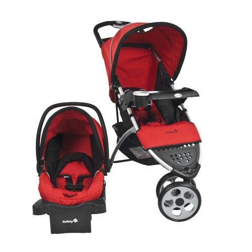 safety 1st trivecta 3 wheel stroller 01579cbew red black best buy ottawa. Black Bedroom Furniture Sets. Home Design Ideas