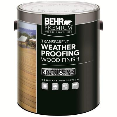 Behr Behr Premium Transparent Weatherproofing Wood Finish Redwood L Home Depot Canada