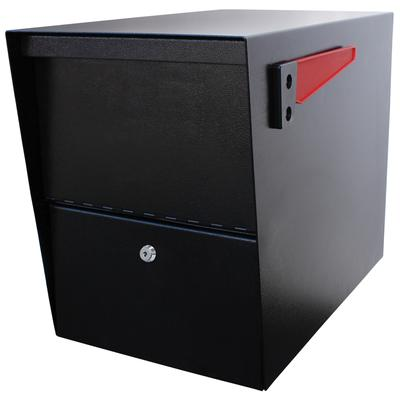 Mail Boss Black Package Master Curbside Locking Mailbox