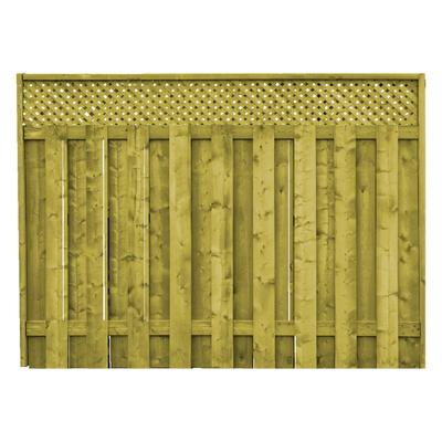 Proguard Treated Wood Lattice Top Fence Panel Home Depot