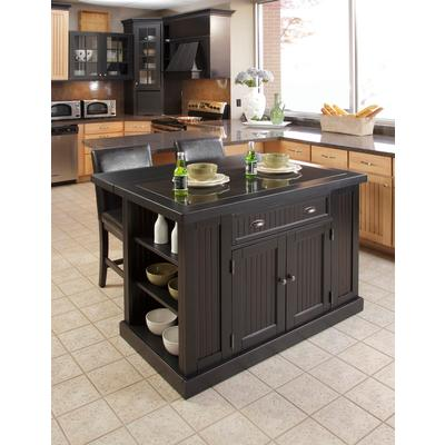 Home Styles Kitchen Island with Two Stools Home Depot