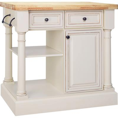 american classics vanilla with brown glaze kitchen island