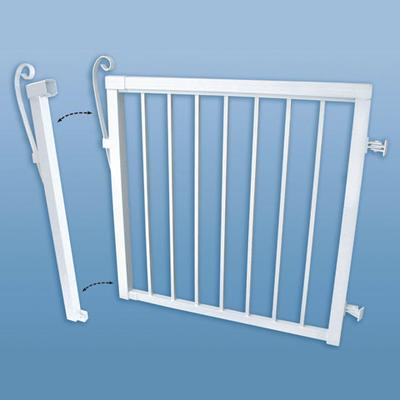 peak gate narrow white 46 inch home depot canada ottawa. Black Bedroom Furniture Sets. Home Design Ideas