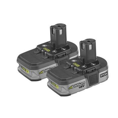 ryobi ryobi one lithium battery 2 pack home depot. Black Bedroom Furniture Sets. Home Design Ideas