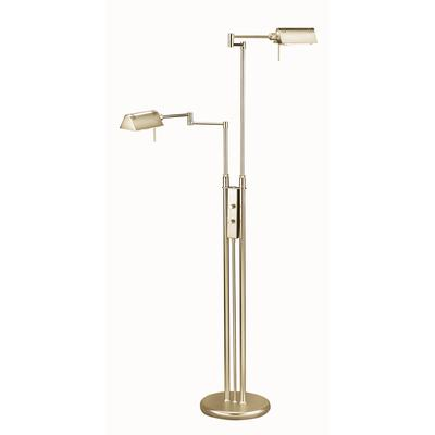 Illumine 2 light floor lamp brass finish home depot for Floor lamp in home depot