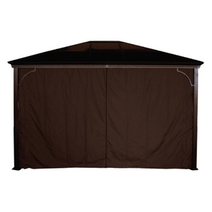 Extra Long Shower Curtain Target Gazebo with Privacy Panels