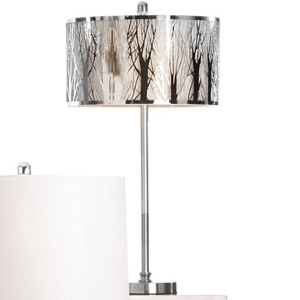 Laser Cut Chrome Finish Metal Table Lamp