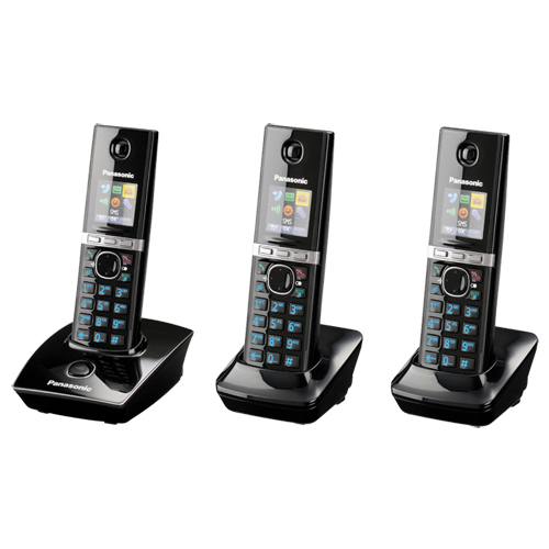 panasonic 3-handset cordless phone (kxtg4113b)
