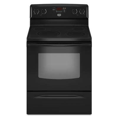 maytag 30 inch self cleaning freestanding smooth top electric range ymer7765wb home depot. Black Bedroom Furniture Sets. Home Design Ideas