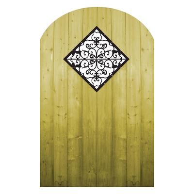 Proguard Treated Wood Gate With Decorative Insert Home
